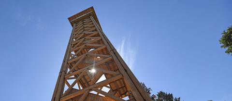 """hr3 nimmt euch zur """"Preview-Besteigung"""" des Frankfurter Goetheturms mit."""