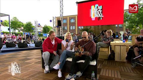 Milow auf dem hr3 Festival