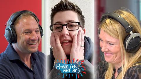 Miete frei mit hr3: Tanja und Tobi überraschen Annika im Videocall.