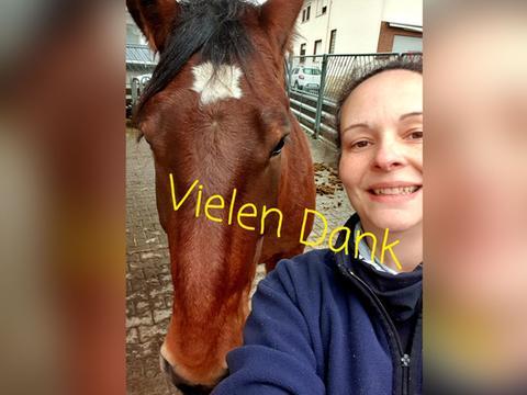 Sandra aus Büdingen möchte mit ihrem Gewinn Opfer des Hochwassers unterstützen.