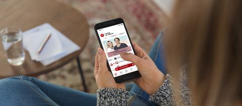 Die neue hr3-App auf einem Smartphone
