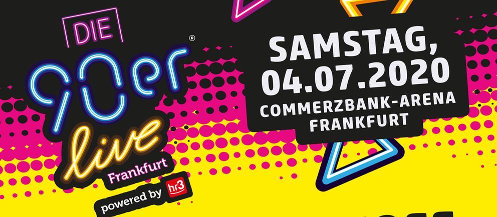 Poster mit allen Künstlern hr3 90er live