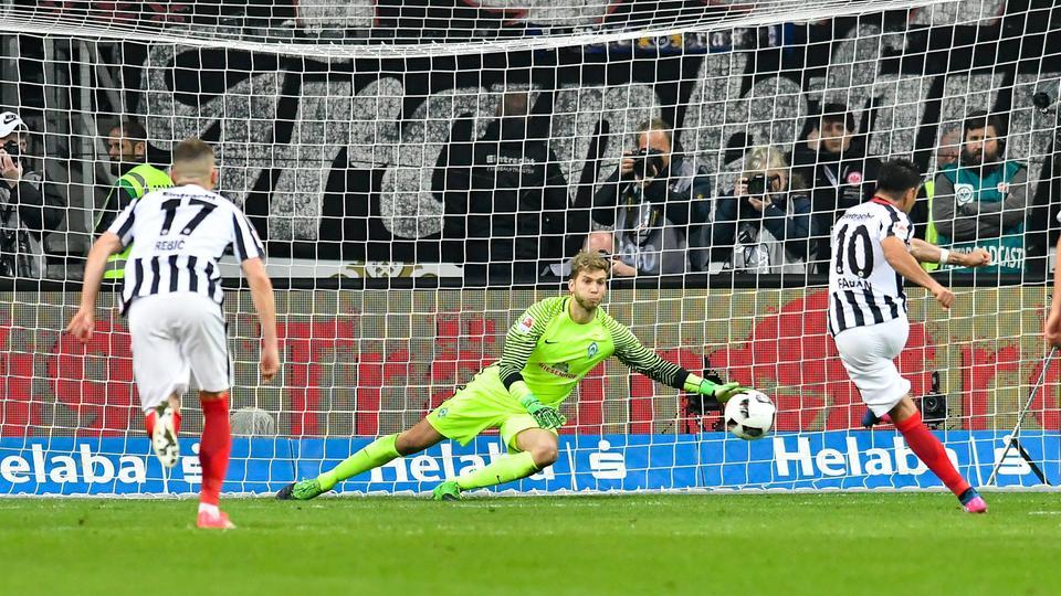 Eintracht verwandelt Elfmeter gegen Werder