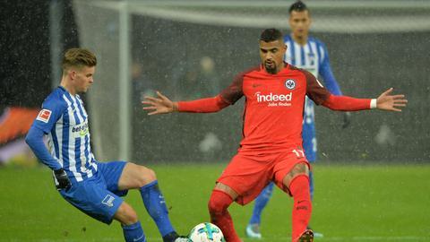Spielszene Eintracht Hertha