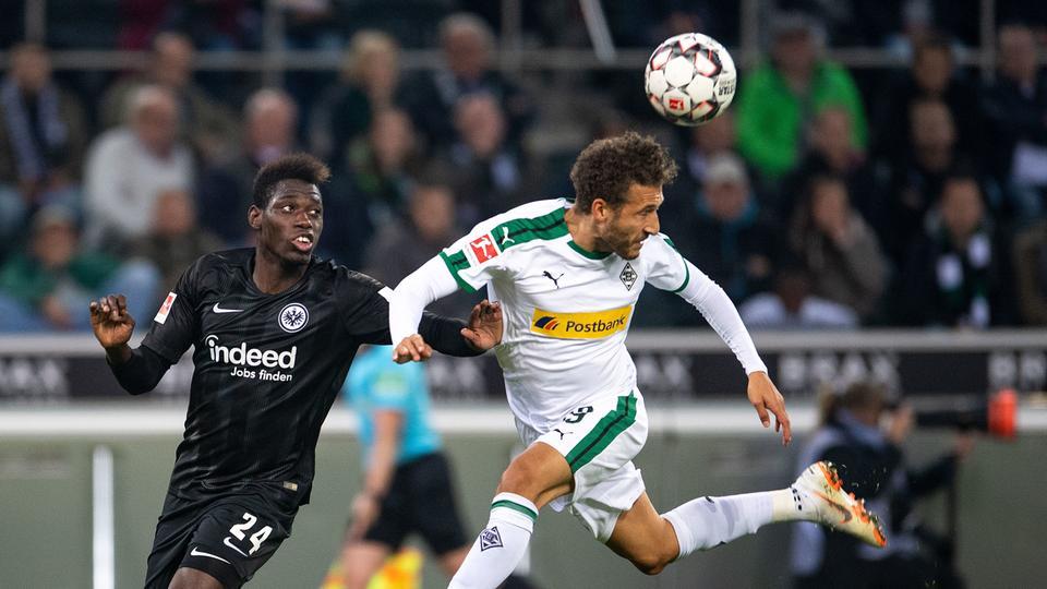 Spielszene Eintracht in Mönchengladbach