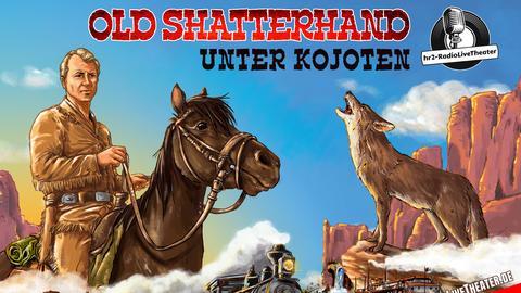 """Plakat für den hr3 Festival Familientag: """"Old Shatterhand unter Kojoten"""""""