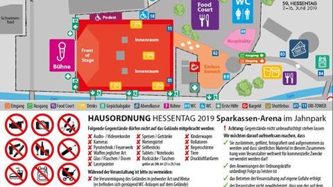 Übersichtsplan hr3 Festival + Verbote