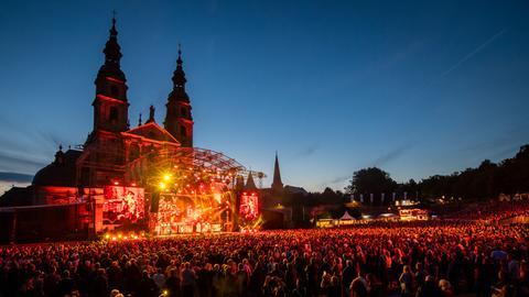 Konzert auf dem Domplatz Fulda