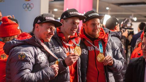 Die Olympia-Stars zurück in Hessen