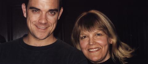 Lidia Antonini und Robbie Williams 2003