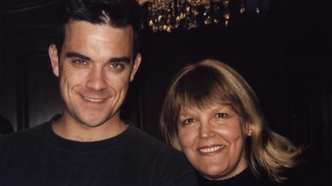 Lidia Antonini und Robbie Williams 2003