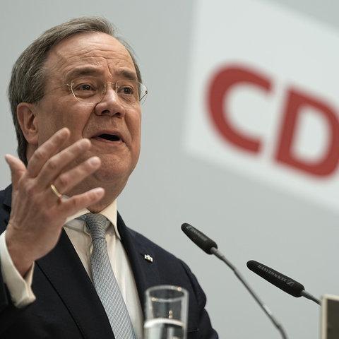 Armin Laschet gibt im Anschluss an die Sitzung des CDU-Präsidiums eine Pressekonferenz