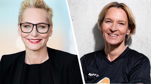 Martina Voss-Tecklenburg zu Gast bei Bärbel Schäfer