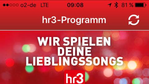 So sieht die hr3-App aus