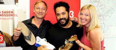 Adel Tawil zu Gast in der hr3 Morningshow mit Tobi und Tanja