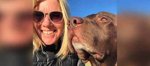 Tanja Rösner und ihr Hund Oscar