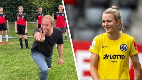 Tobi und Merle Frohms setzen sich für die Mädchen des TSV Höchst ein.