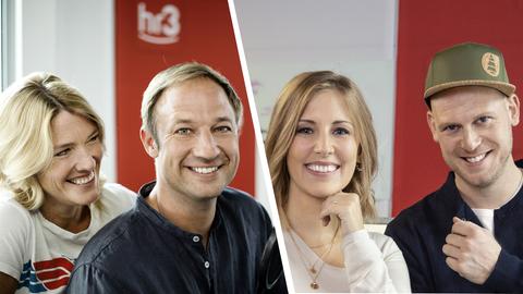Collage hr3 Showblog mit Tanja, Tobi, Kate und Jan