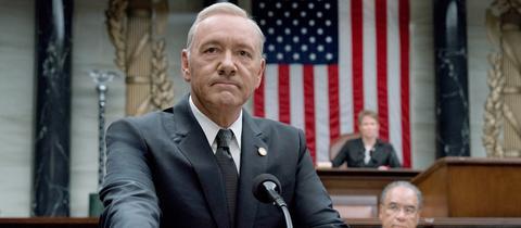 """Kevin Spacey spielt in der Netflix-Serie """"House Of Cards"""" den Präsidenten der USA"""