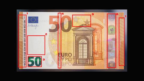 Falschgeld - 50-Euro-Banknote - Erkennungsmerkmale