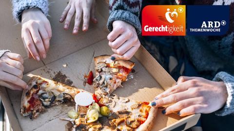 ARD-Themenwoche Gerechtigkeit - gerechte Aufteilung Pizza