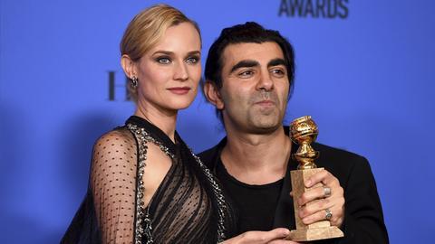 Diane Kruger und Fatih Akin bei den 75. Golden Globes
