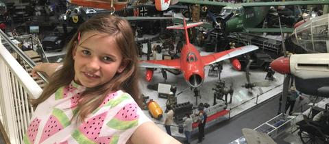 Eva-Lotte im Technikmuseum in Sinsheim