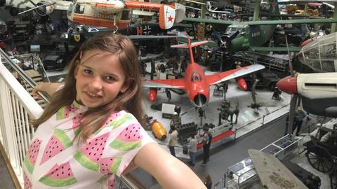 Eva-Lotte im Technikmuseum in Sinsheim