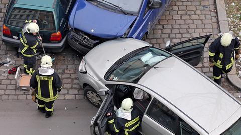 Autounfall mit drei beteiligten Autos