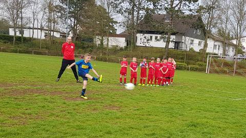 Bens erstes Fußballspiel