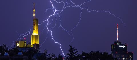 Gewitter über Frankfurt