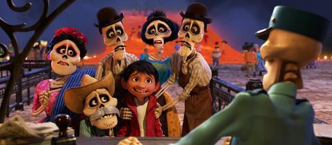 Filmszene aus Coco - Lebendiger als Leben, dem neuen Pixar-Animationsfilm