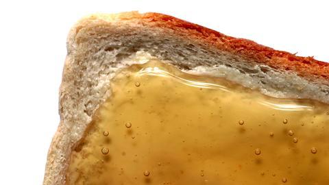 Toastbrot mit Honig