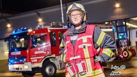 Lisa ist Mitglied bei der Freiwilligen Feuerwehr Staufenberg
