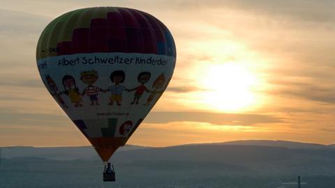 Heißluftballon über Kassel