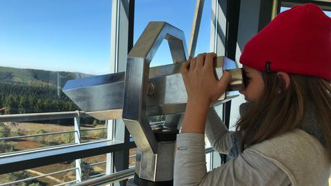 Eva-Lotte testet die Ettelsberg-Seilbahn
