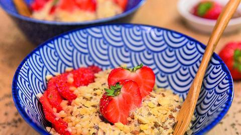 Overnight-Oats mit Erdbeeren