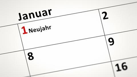 Kalender: Neujahr