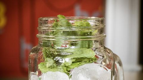 Schritt-für-Schritt-Anleitung für Johannisbeer-Minz-Limonade