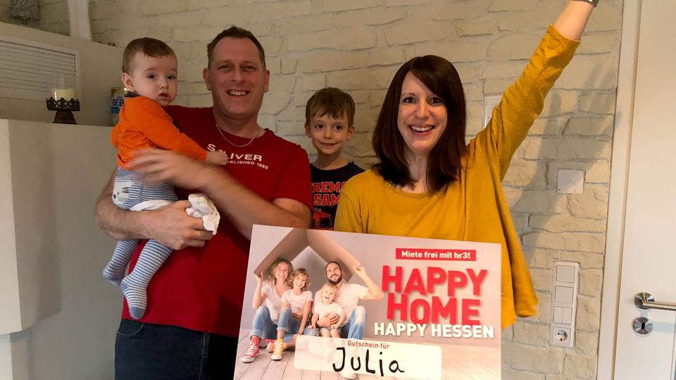 Julia gewinnt ein Jahr Miete frei mit hr3