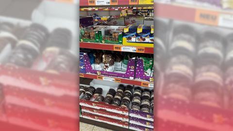hr3-Hörerin Kerstin hat uns dieses Foto von Lebkuchen in einem Supermarkt in Eschwege geschickt