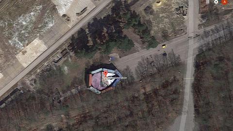 Millenium Falke aus Star Wars auf Google Maps