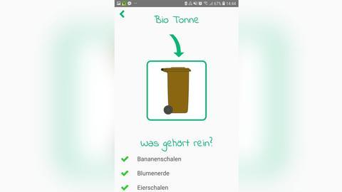 "Die Müll-App ""Mülltrennung"""
