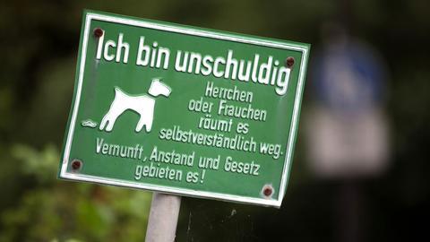 Hinweisschild für Hundebesitzer