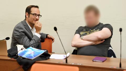 Die Angeklagten im NSU-Prozess: Holger G. (rechts) und sein Anwalt Pajam Rokni-Yazdi