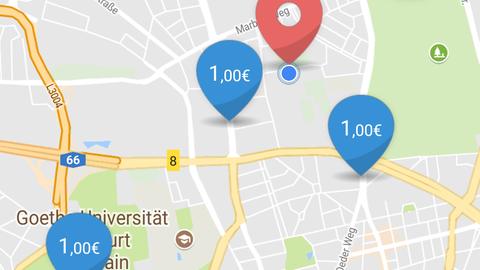 Parkpocket App zum Parkplatz speichern