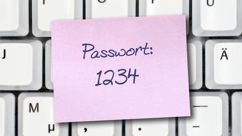 """""""1234"""" ist kein gutes Passwort"""