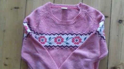 Sarah aus Kassel sucht diesen Pullover in Größe 134 für ihre Tochter