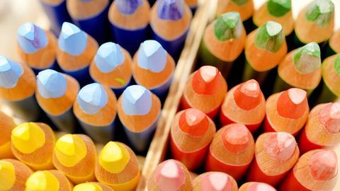 Buntstifte in verschiedenen Farben