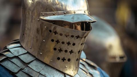 Ritter in seiner Rüstung